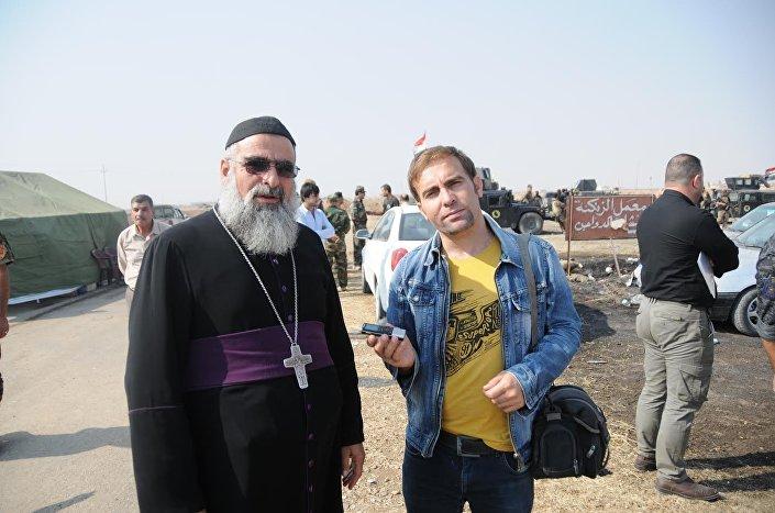 Representante da comunidade cristã de Mossul durante uma entrevista, 11 de novembro de 2016