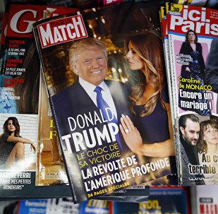 Revistas francesas mostram Donald Trump na capa após a eleição presidencial dos EUA