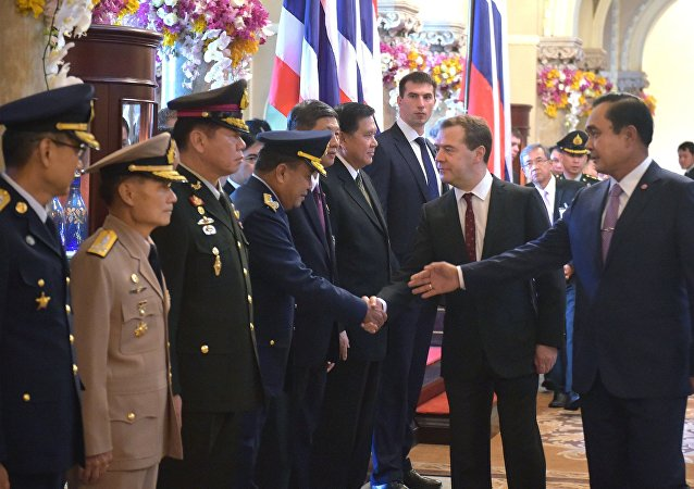Visita oficial do primeiro-ministro da Rússia, Dmitry Mdvedev, à Tailândia