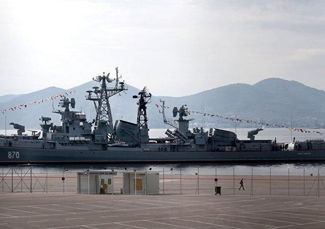 Desrtoier russo Smetlivy no porto grego de Piraeus, 30 de outubro de 2016