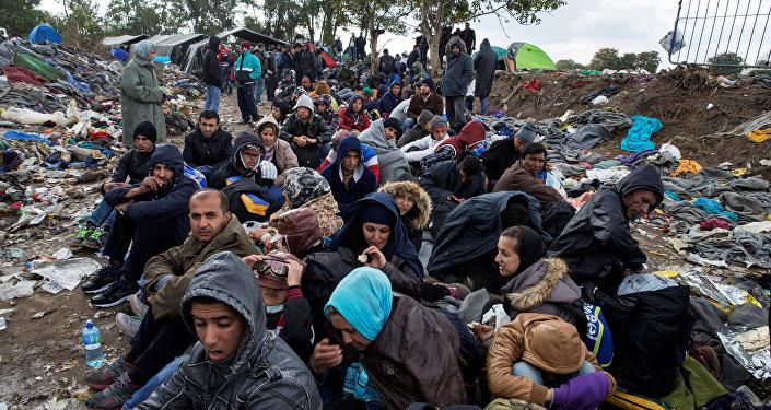 Refugiados na fronteira da Sérvia com a Croácia (arquivo)