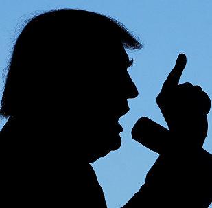 O presidencial republicano Donald Trump, durante o encontro com os eleitores no Colorado, em 18 de outubro de 2016