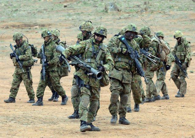 Soldados das Forças de Autodefesa do Japão