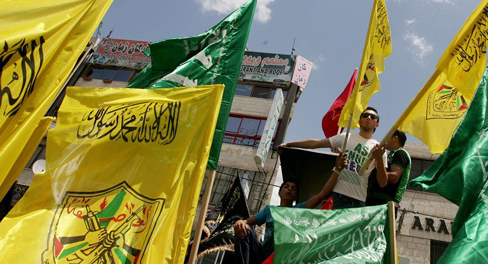 Manifestação pela unidade política palestina une apoiadores do Hamas e do partido Fatah (foto de arquivo)