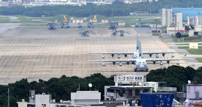 Base aérea de Futenma, prefeitura de Okinawa ( US Marine Corps Air Station)