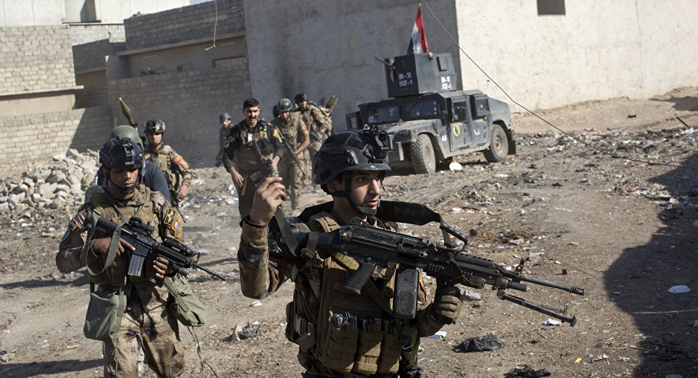 Militares das Forças Especiais do Iraque em Mossul