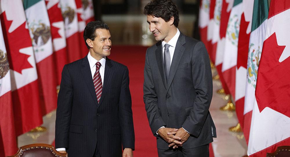 Enrique Pena Nieto e Justin Trudeau