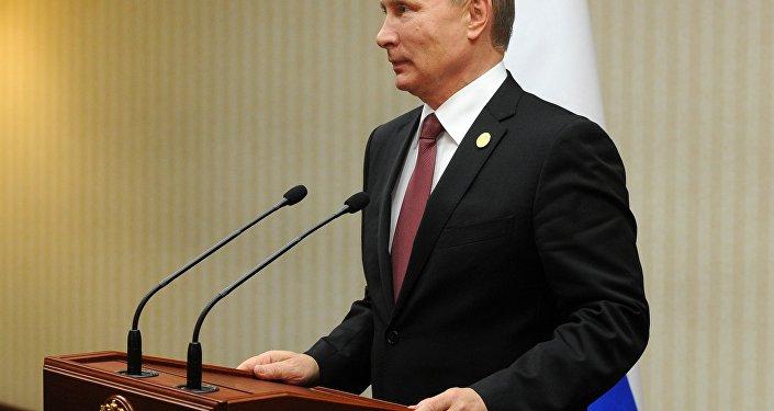 Vladimir Putin conversa com jornalistas depois da cúpula da APEC em Lima, Peru, 20.11.2016