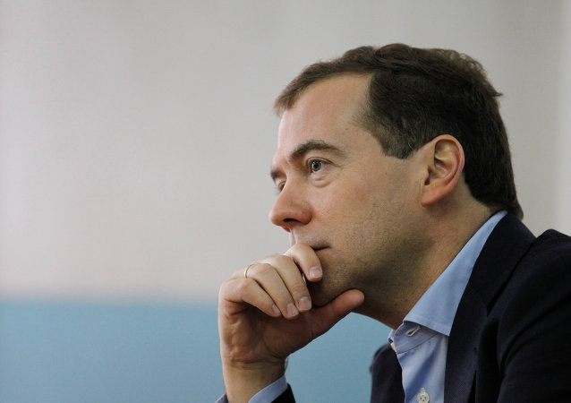 Primeiro-ministro da Rússia Dmitry Medvedev