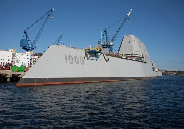 The future USS Zumwalt  destróier