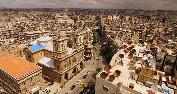 Vista pela cidade de Aleppo