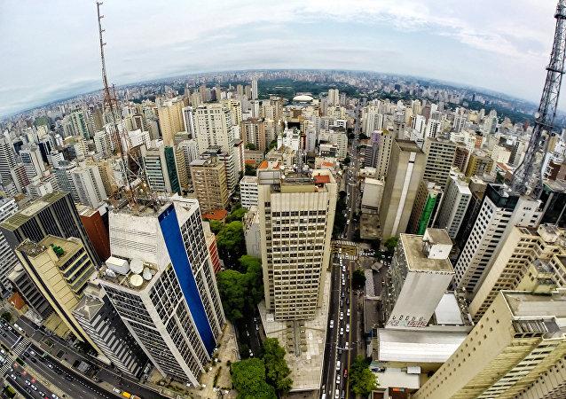 Vista aerea de São Paulo