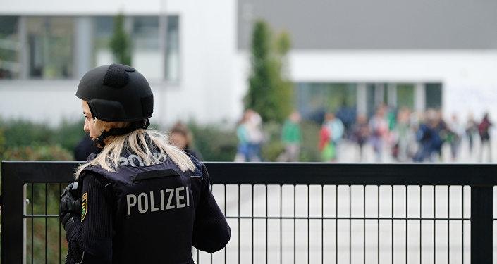 Uma mulher policial alemã