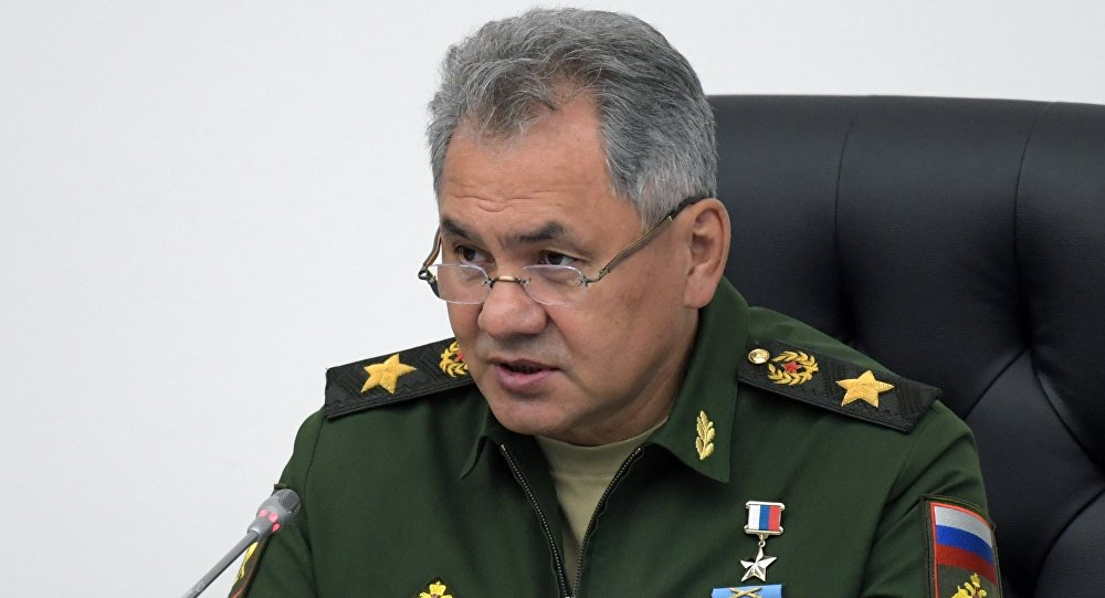 Ministro da Defesa russo Sergei Shoigu