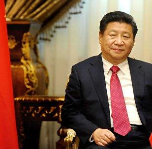 O Presidente Xi Jinping visita o parlamento em Cairo, Egito, 21de janeiro, 2016.