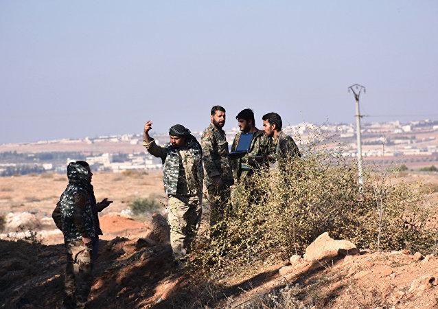 Combatentes das tropas sírias