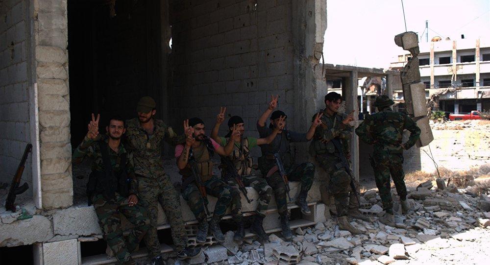 Os soldados do Exército Árabe Sírio