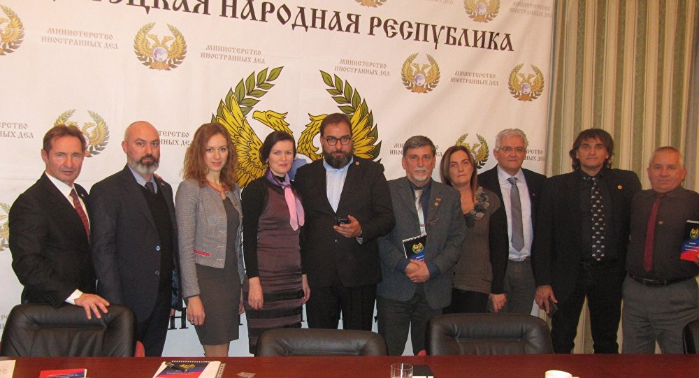 A delegação dos empreendedores italianos em Donetsk
