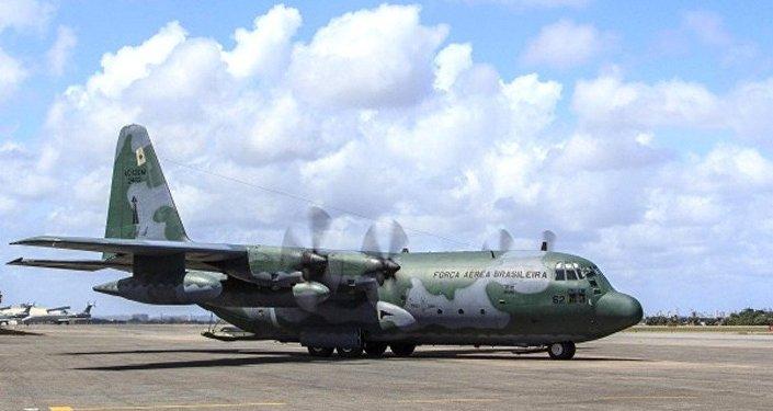 Avião da FAB, que levou a equipe da Força Nacional do SUS para a Colômbia