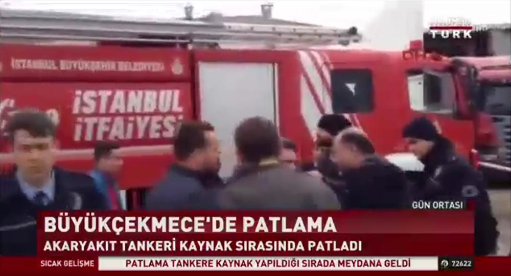 Imagens da ambulância turca após explosão no petroleiro