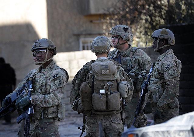 Militares dos EUA em Mossul, Iraque, 23 de novembro de 2016