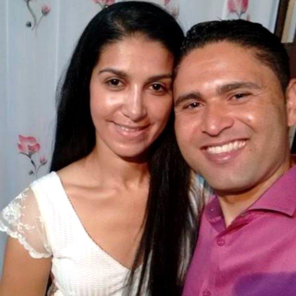 Rosemere com o noivo Udirley Damasceno