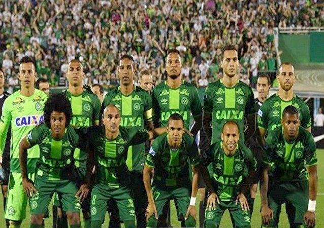 Time da Chapecoense campeão da Copa Sul-Americana 2016