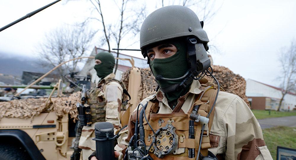 Soldados franceses das forças especiais