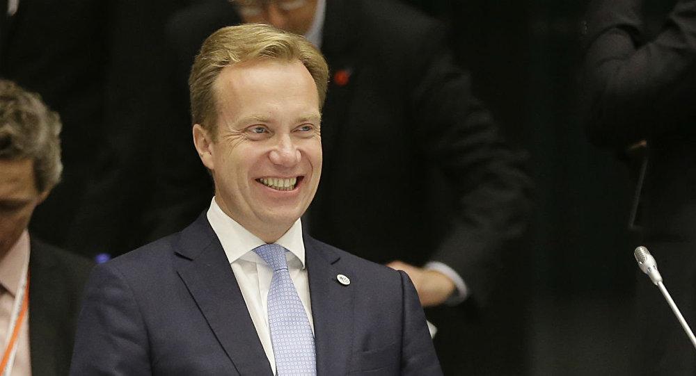 Borge Brende, ministro das Relações Exteriores da Noruega.
