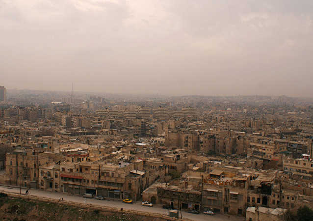 Cidade síria de Aleppo vista da Cidadela em 11 de dezembro de 2009 (foto de arquivo)