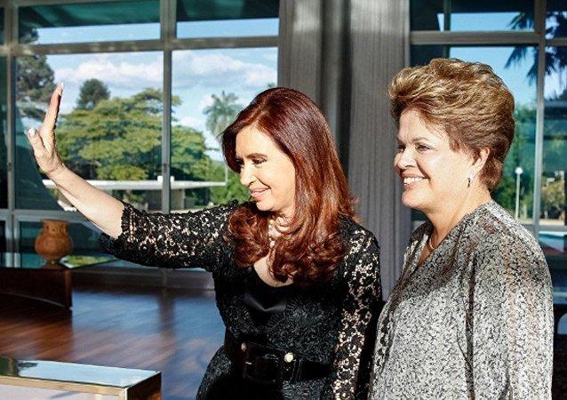 Cristina Kirchner e Dilma Rousseff