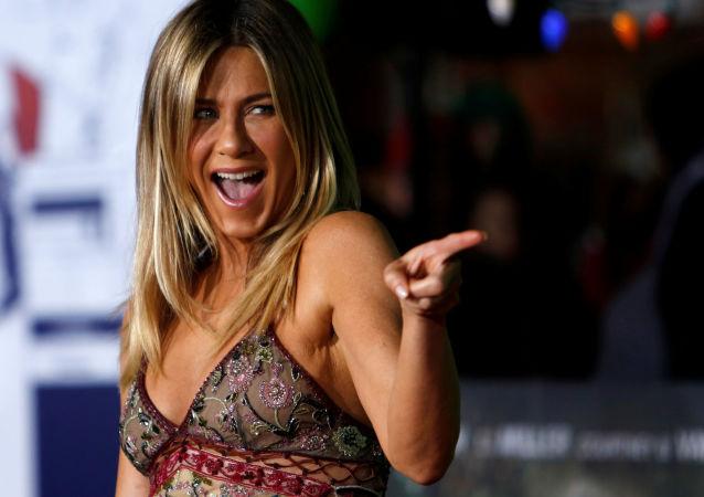 Atriz de Hollywood, Jennifer Aniston na estreia do seu novo filme em Los Angeles