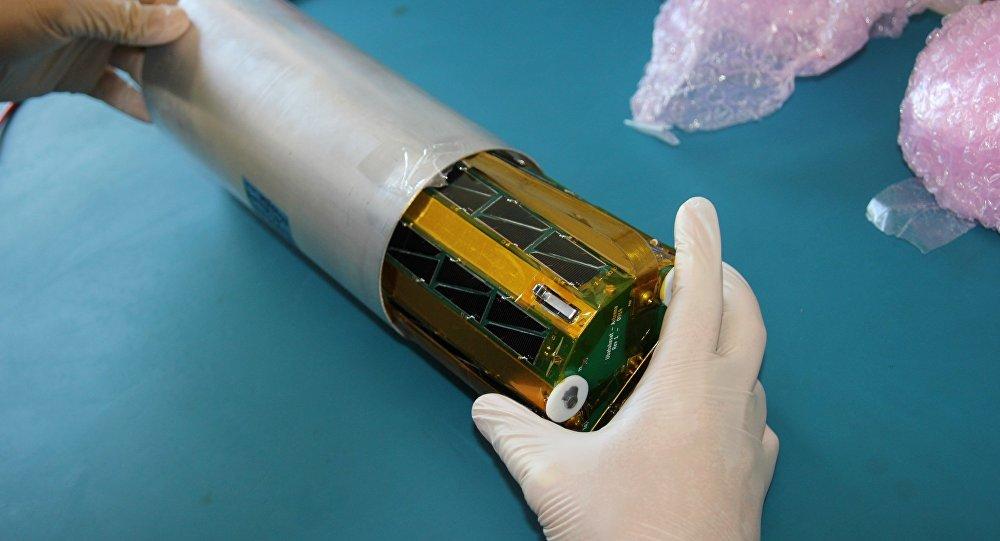 Mini-satélite desenvolvido por alunos da Escola Tancredo Neves, de Ubatuba/SP