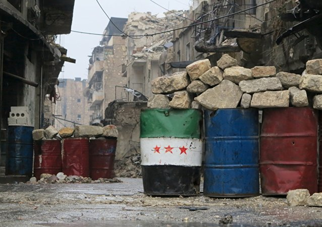Bairro da zona leste de Aleppo libertado pelo Exército Sírio, em 13 de dezembro de 2016