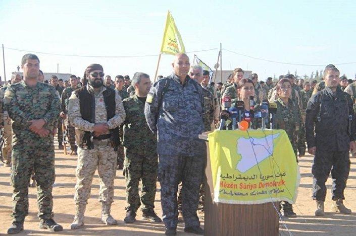 Porta-voz do comando da operação em Raqqa, Cihan Sex Ehmed