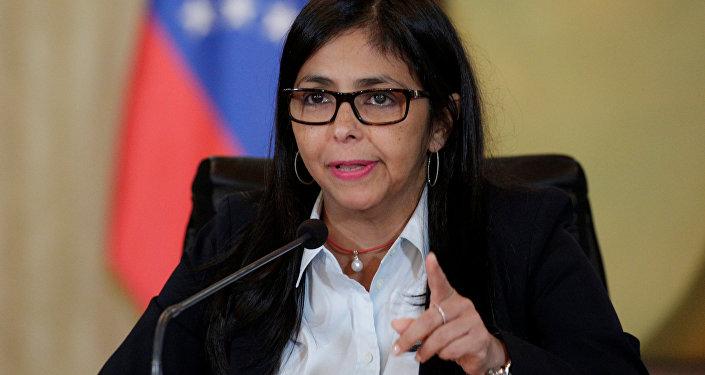 Delcy Rodríguez, chanceler da  Venezuela