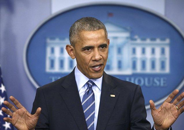 Barack Obama em entrevista coletiva de fim de ano, 16 de dezembro de 2016.