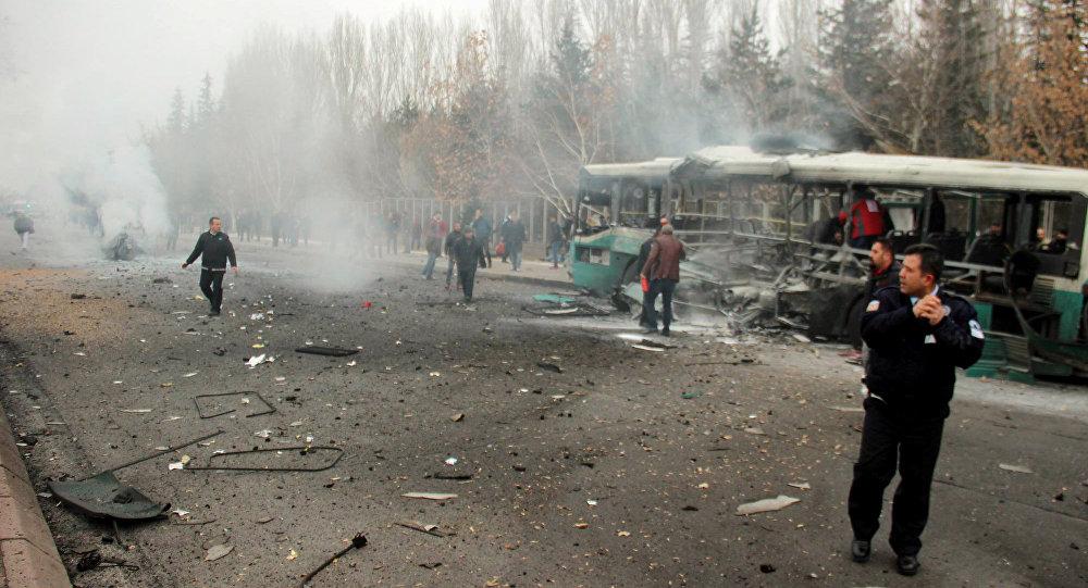 Explosão na cidade turca de Kayseri, 17 de dezembro de 2016