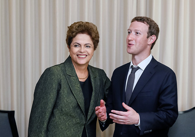 Dilma Rousseff e Mark Zuckerberg