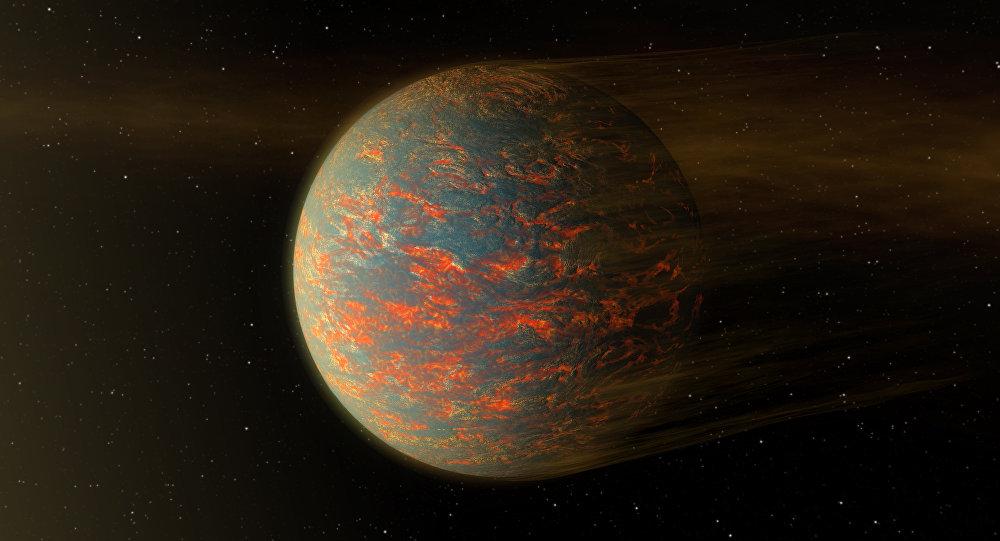 Esta ilustração mostra como poderá ser o exoplaneta 55 Cancri, que é quase duas vezes maior do que a Terra
