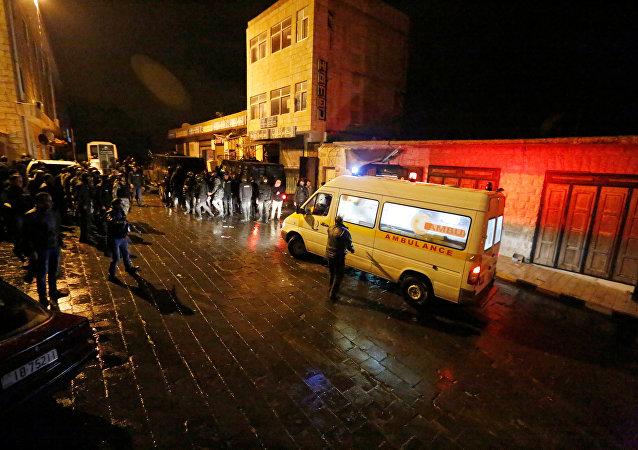 Atentado contra policiais na Jordânia em 18 de dezembro de 2016.