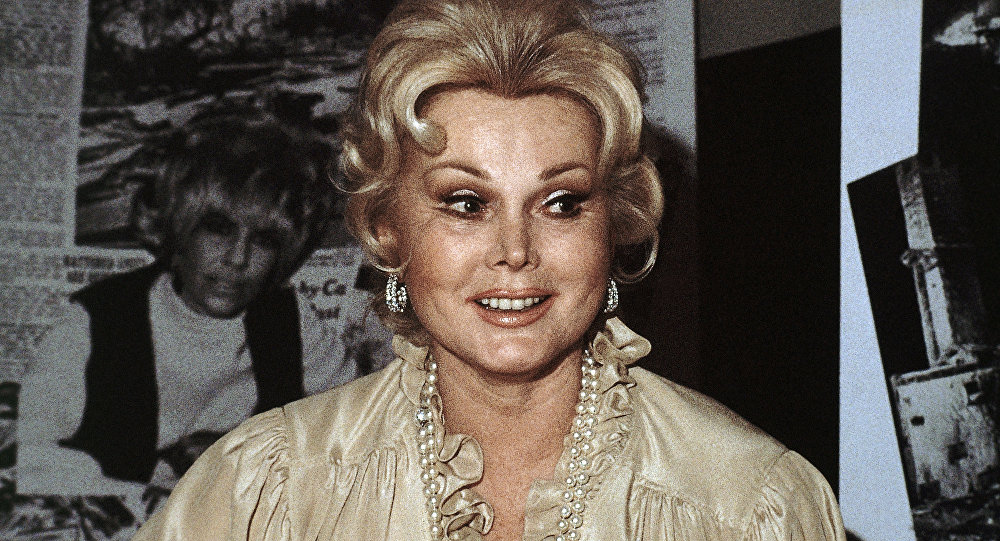 Atriz de Hollywood Zsa Zsa Gabor