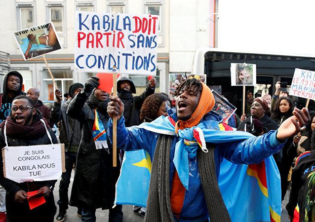 Manifestante do Congo