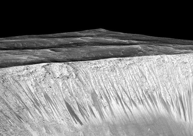 Linhas escuras de Marte. Foto da NASA