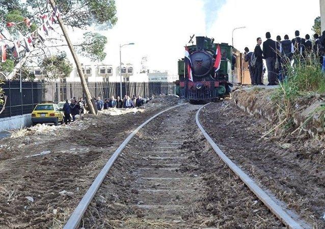 Trem histórico. Damasco, Síria