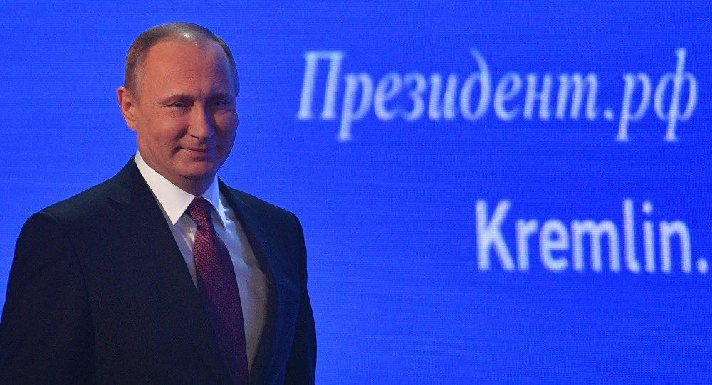 Vladimir Putin chega à grande coletiva anual em 23 de dezembro de 2016