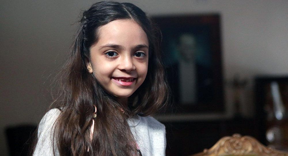 Menina síria Bana Alabed durante entrevista em Ancara, Turquia, 22 de dezembro de 2016