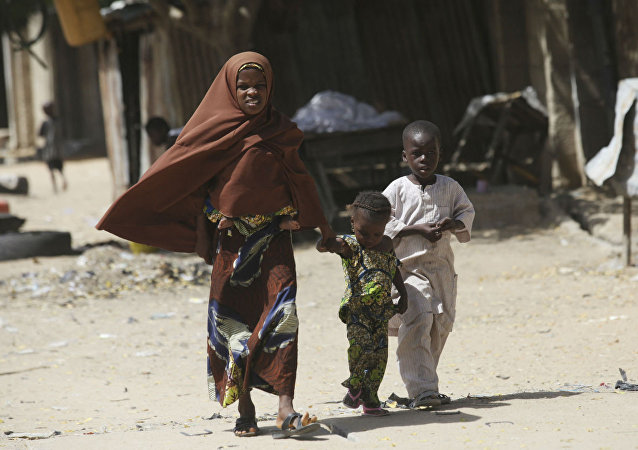 Crianças nigerianas.