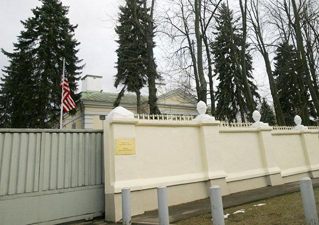 A Embaixada dos Estados Unidos em Minsk é comandada por um encarregado de negócios, já que os EUA não têm um embaixador na Bielorrússia desde 2008 (imagem de arquivo)