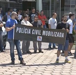 Polícia Civil integram mobilização em frente ao Copacabana Palace